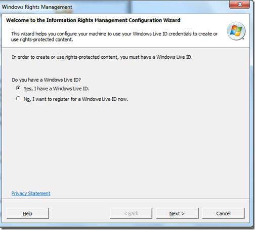 Windows ID IRM
