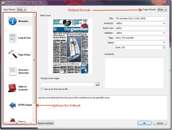 convert e-book