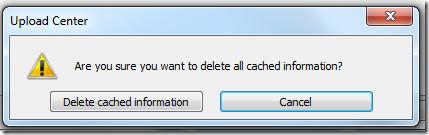 office 2010 delete cache