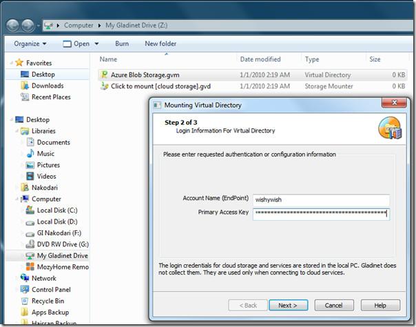 Azure Blob Storage Windows Explorer