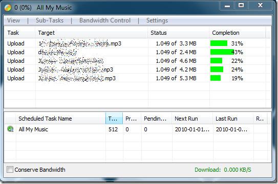 Backup Azure Progress