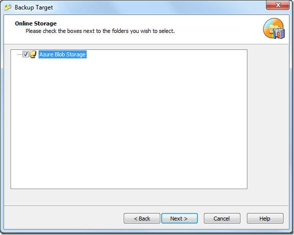 Backup Target Azure Blob