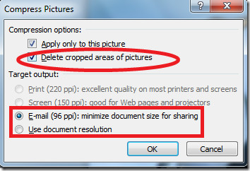 Compress PowerPoint 2010