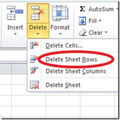 Delete Sheet Rows