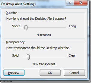 Desktop Alert Transparancy