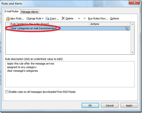 Email Alerts Outlook 2010