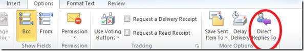 Outlook 2010 Direct Replies To
