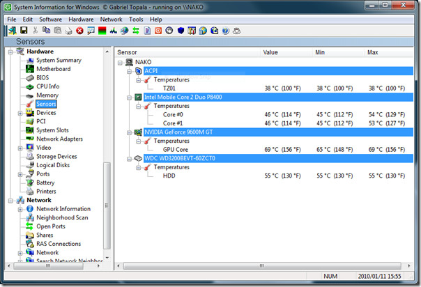 System Information for Windows 2