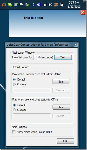 VoiceGear Skype Notification