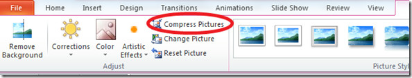 compress Pic PowerPoint 2010