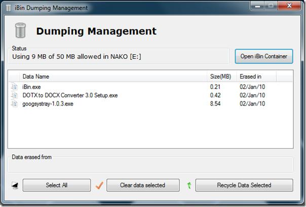 iBin Dumping Management