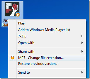 Change file extension shell extension