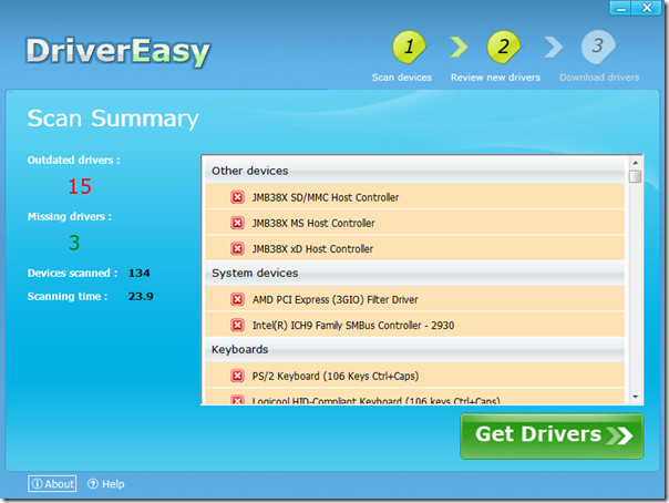 Driver Easy Scanning