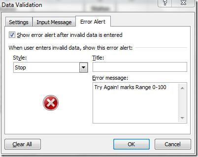 Error alert