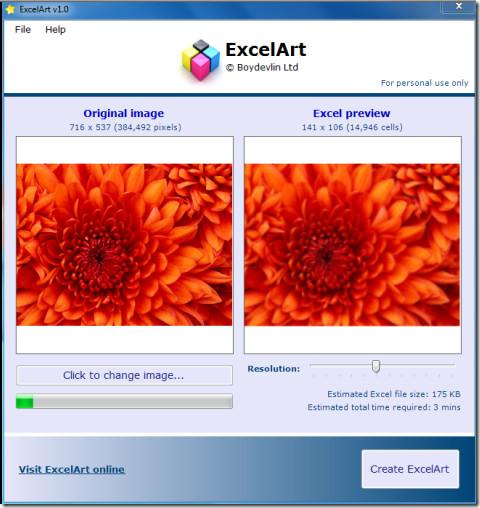 ExcelArt Working