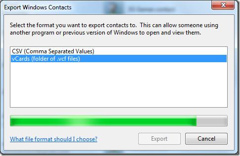 Export Windows Contacts
