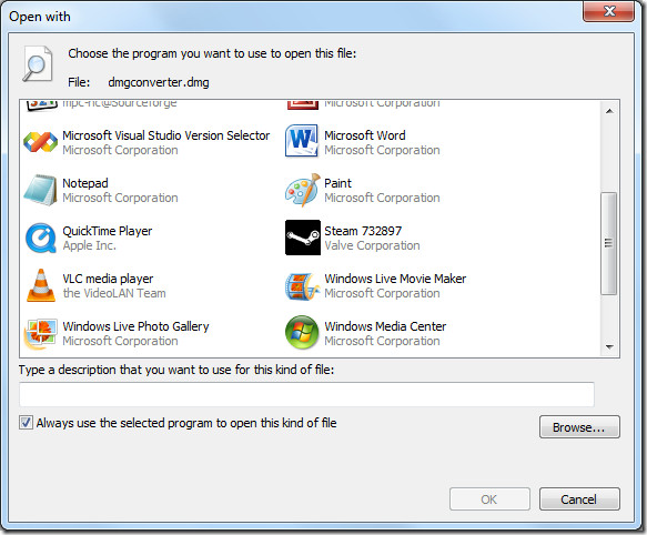 Open With Windows 7