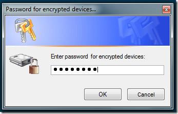 TrueCrypt Password Dialog