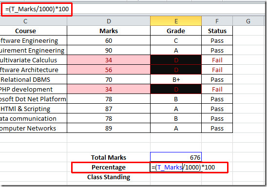 percentage tl marks 1