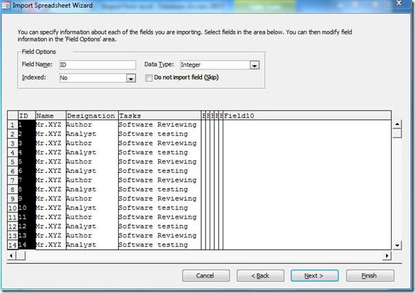 specify fields (2)