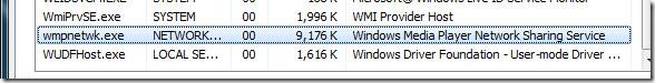 wmpnetwk.exe network service
