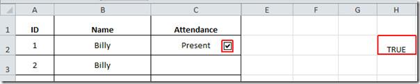 Attendance present 1