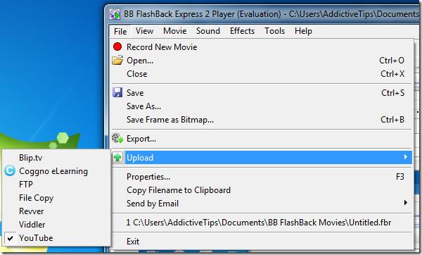 BB FlashBack Express 2 Upload
