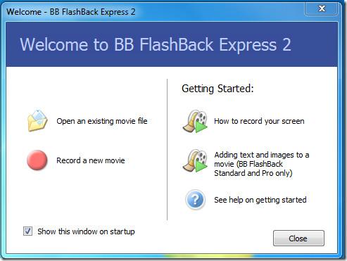 BB FlashBack Express Main
