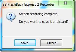 BB FlashBack Express Record Save