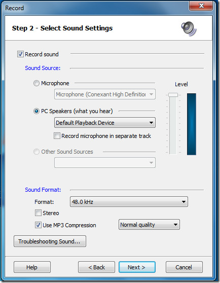 BB FlashBack Express Record Settings2