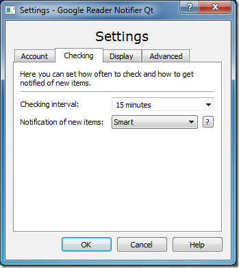 Google Reader Desktop Setting
