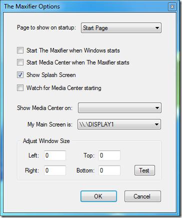 WMCMaxifier Options