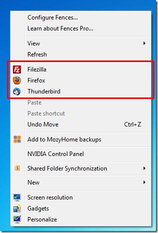 Windows 7 Context Menu