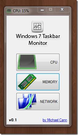 Windows 7 Taskbar Monitor