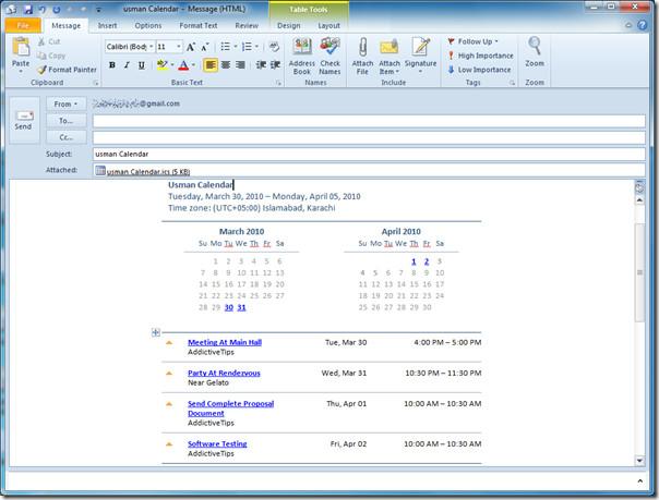 email calendar 1
