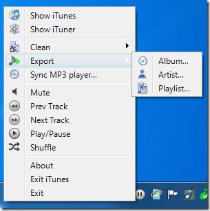 export itunes album artist playlist
