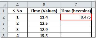 formula result