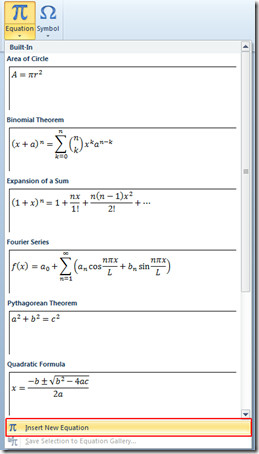 new equation