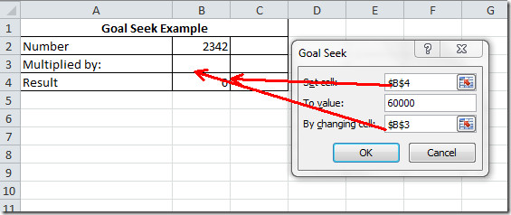 result goal seek 1
