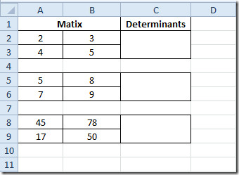 table matrix