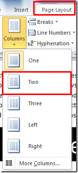 two columns 1