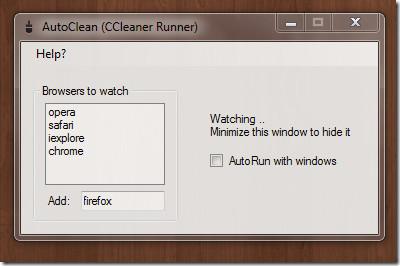 AutoClean CCleaner Runner