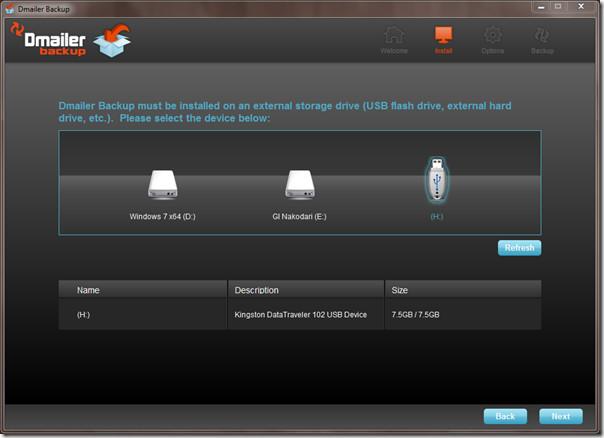 Dmailer Backup install