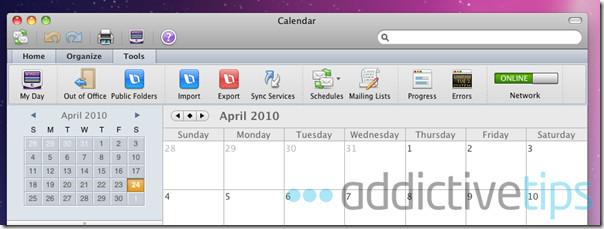 Outlook 2011--calendar options