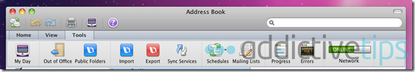 Outlook 2011--contact options
