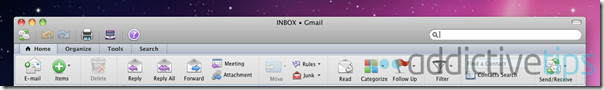 Outlook 2011--mail tabs