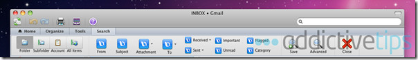 Outlook 2011--search mail