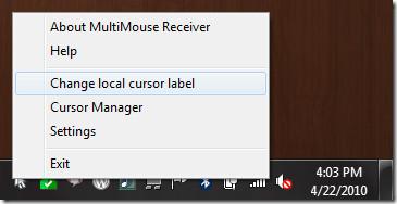 change local cursor label