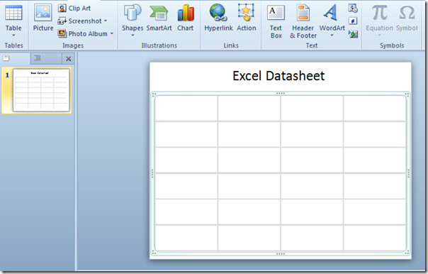 excel datasheet