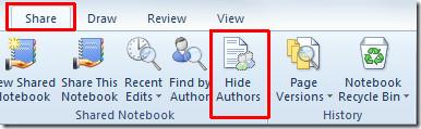 hide author